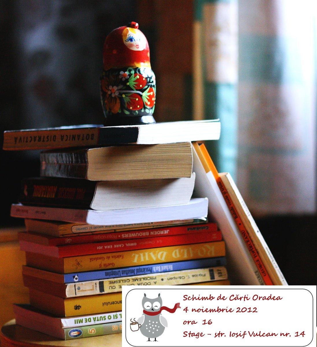 Schimb de cărţi Oradea, noiembrie 2012 #1