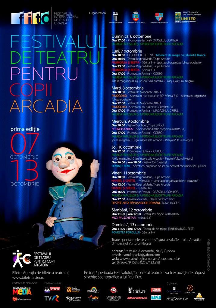 Festivalul de Teatru pentru Copii Arcadia, Oradea, octombrie 2013 #1