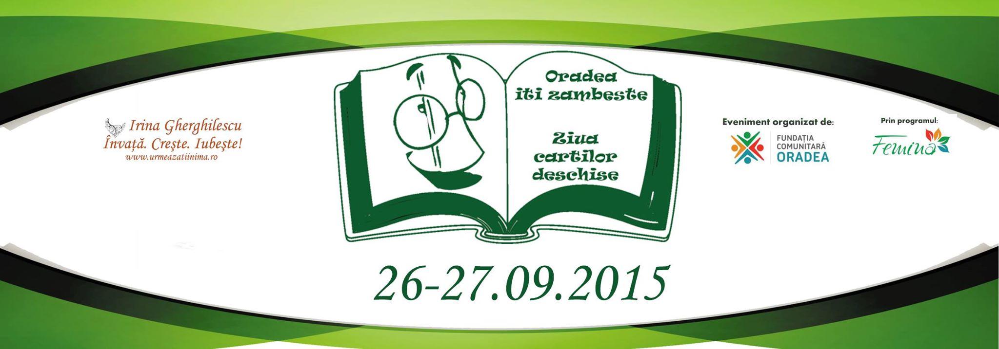 În luna septembrie Oradea îţi zîmbeşte şi ai Ziua cărţilor deschise #1