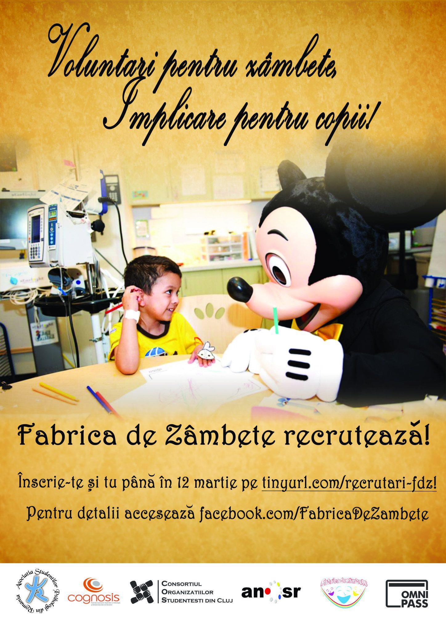 Proiectul Fabrica de Zîmbete recrutează în Cluj Napoca #1