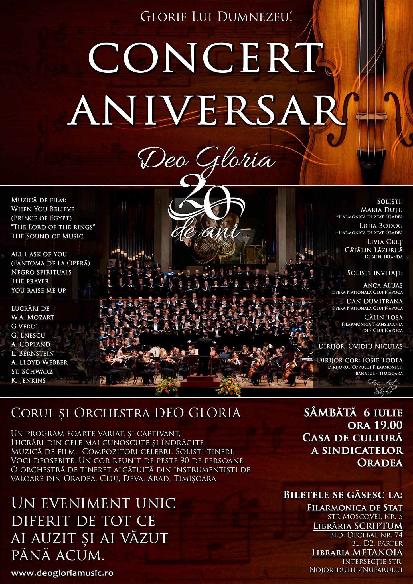 Concert aniversar Deo Gloria 20 de ani, Oradea şi Timişoara, iulie 2013 #1